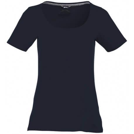 Damski T-shirt z dekoltem, BOSEY