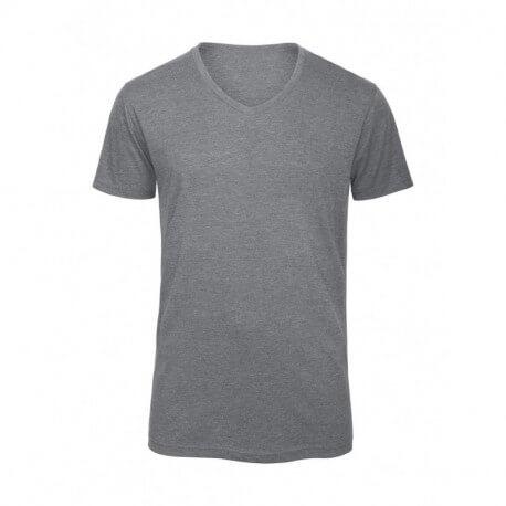 Męski T-shirt, V TRIBLEND