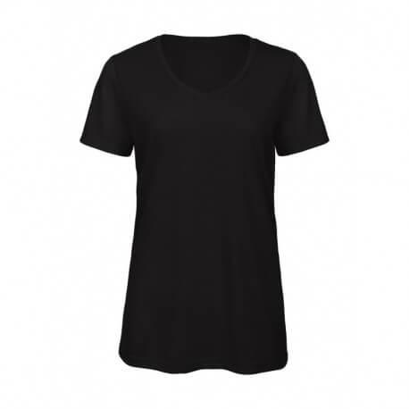 Damski T-shirt, V-NECK V TRIBLEND