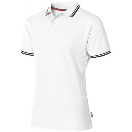 Męska koszulka polo z kontrastowymi paseczkami, DEUCE