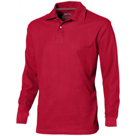 Point long sleeve men's polo