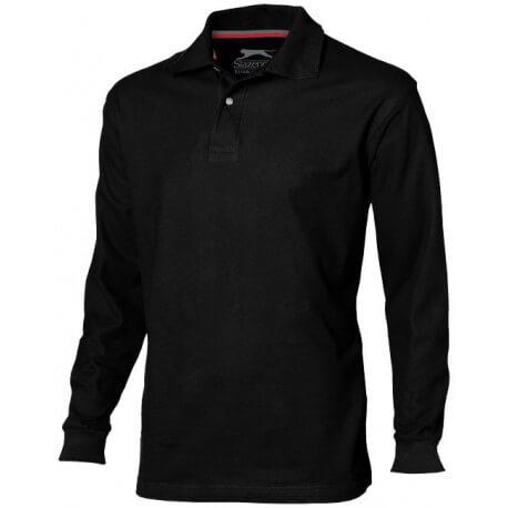Męska koszulka polo z długim rękawem, POINT
