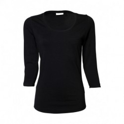 Ladies 3/4 Sleeve Stretch Tee
