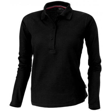 Damska koszulka polo z długim rękawem, POINT