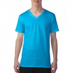 Męski lekki T-shirt, V-NECK TEE