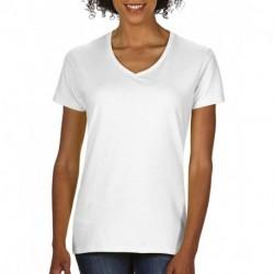 Damski T-shirt, PREMIUM COTTON V-NECK