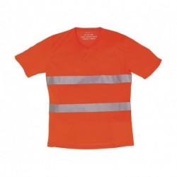 T-shirt v-neck, FLUO