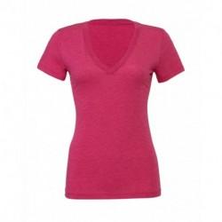 Damska koszulka v-neck, TRIBLEND