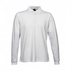 Męska koszulka polo z długim rękawem, LUXURY STRETCH
