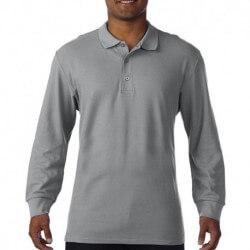 Premium Cotton Adult Double Piqué Polo LS