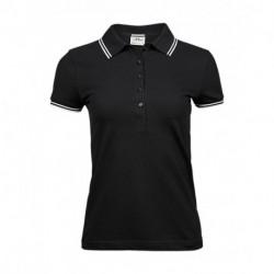 Damska koszulka polo, LUXURY STRIPE STRETCH
