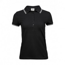 Ladies Luxury Stripe Stretch Polo