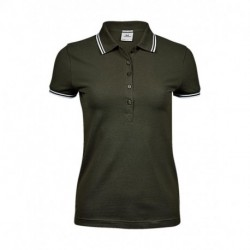 Damska koszulka polo, LUXURY STRIPE STRETCH