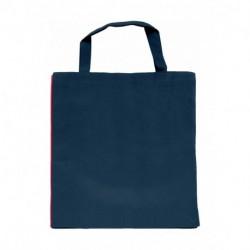 Kontrastowa torba z krótkimi uchwytami