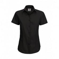 Damska koszula popelinowa z krótkim rękawem, SMART