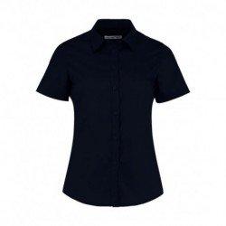 Damska koszula z krótkim rękawem, POPLIN