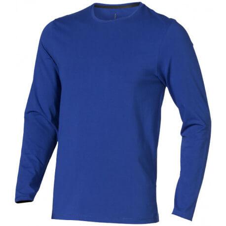 Męski T-shirt ekologiczny z długim rękawem, PONOKA