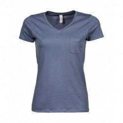 Damska koszulka, LUXURY POCKET V-TEE