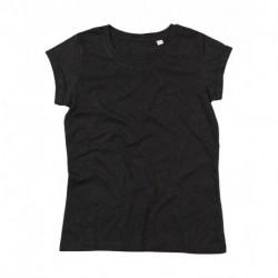 Damski T-shirt, ROLL SLEEVE T