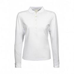 Damska koszulka polo z długim rękawem, LUXURY STRETCH