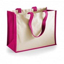 Klasyczna torba na zakupy z juty, PRINTER