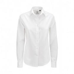 Damska koszula popelinowa z długim rękawem, SMART