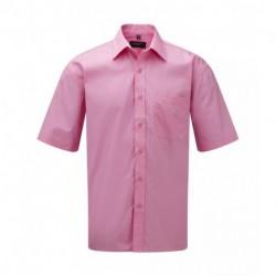 Męska koszula popelinowa z krótkim rękawem