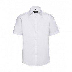 Męska dopasowana koszula z krótkim rękawem, TENCEL