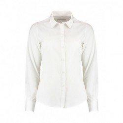 Damska koszula z długim rękawem, POPLIN