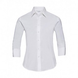 Ladies` 3/4 Sleeve Easy Care Fitted Shirt