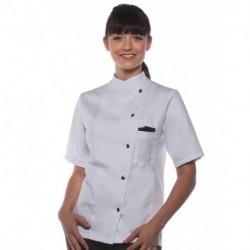 Damska kurtka szefa kuchni z krótkim rękawem, GRETA