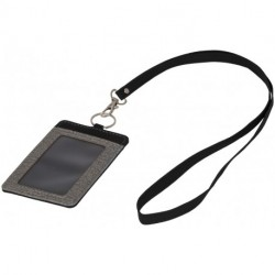 Eye-d heathered badge holder with lanyard