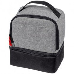 Dual cube lunch cooler bag
