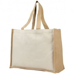 Varai 320 g/m² canvas and jute shopping tote bag
