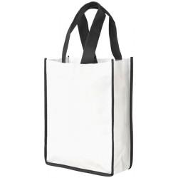 Contrast small non-woven shopping tote bag