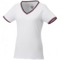 Damski T-shirt pique, ELBERT