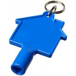 Brelok z uniwersalnym kluczem w kształcie domku, MAXIMILIAN