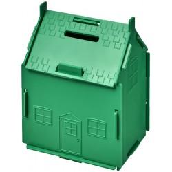 Uri house-shaped plastic money container
