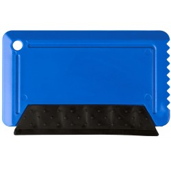 Freeze credit card sized ice scraper with rubber