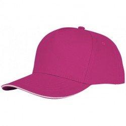 rozowy, 5-panelowa czapka CETO