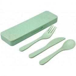 Bamberg bamboo fibre cutlery set