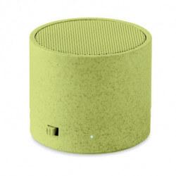 Ekologiczny głośnik ze słomy pszenicy/ABS, ROUND BASS+