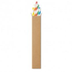 Zestaw 10 słomek papierowych, PAPER STRAW