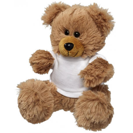 Fred plush sitting teddy bear with shirt