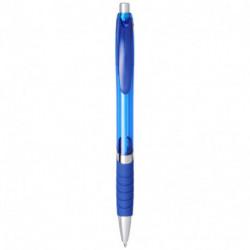 Przezroczysty długopis z gumowym uchwytem, TURBO