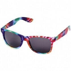 Okulary przeciwsłoneczne ze wzorem typu tie dye, SUN RAY