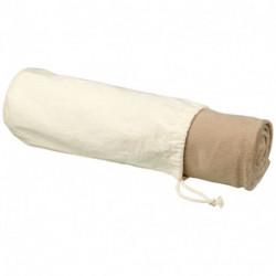 Aira micro plush fleece blanket with cotton pouch