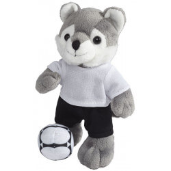 Dribble plush wolf with shirt