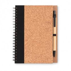 Ekologiczny korkowy notatnik z długopisem, SONORA PLUSCORK