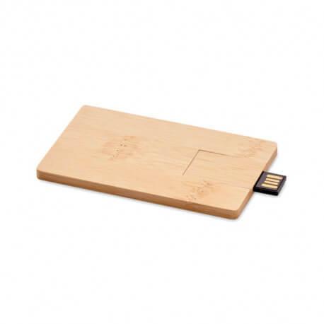 Pamięć USB 16GB bambusowa obudowa, CREDITCARD PLUS
